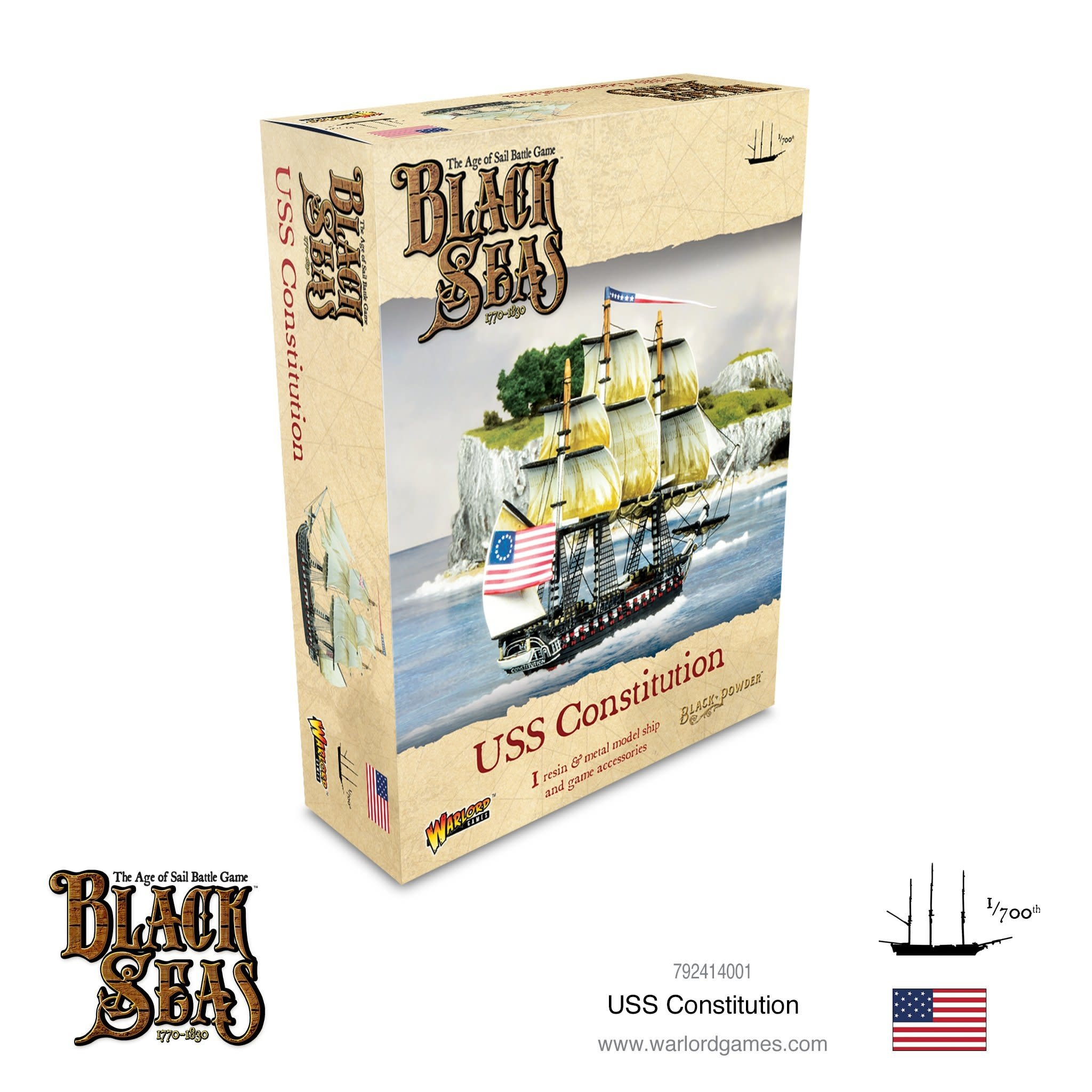 Warlord games Black Seas: USS Constitution