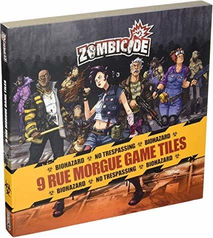 CMON Zombicide: 9 rue morgue game tiles