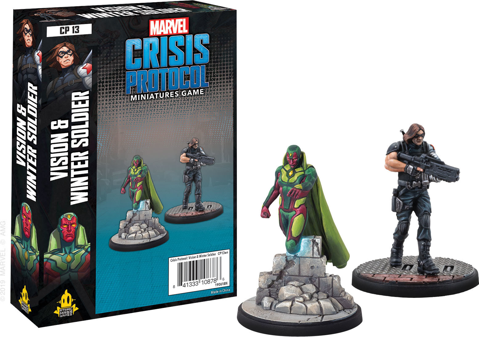 Atomic Mass Games Marvel Crisis Protocol: Vision & Winter Soldier