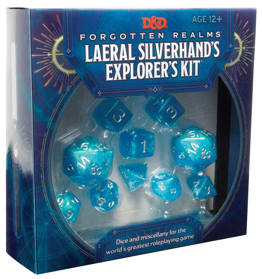 Wizards of the Coast D&D DICE: Forgotten Realms Laeral Silverhand's Explorer's Kit