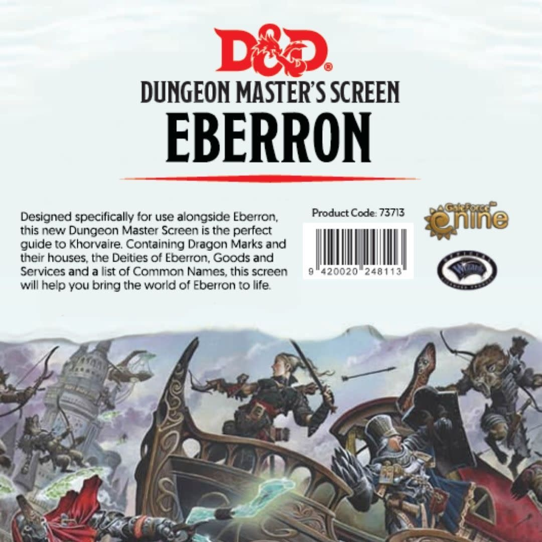 Wizards of the Coast D&D RPG Dungeon Master Screen: Eberron Rising From the Last War