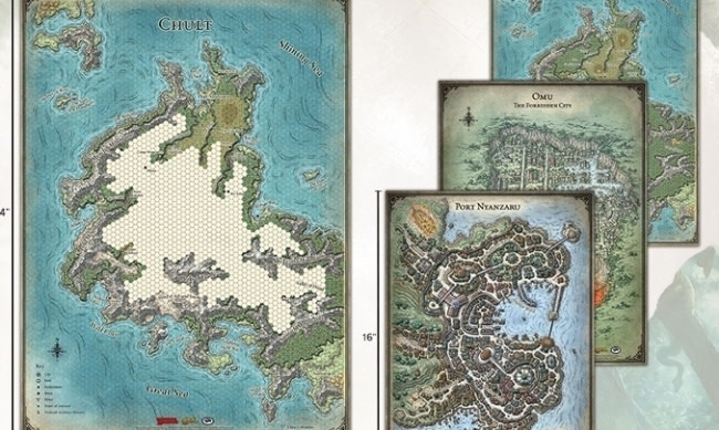 Gale Force Nine D&D RPG Map: Tomb of Annihilation set
