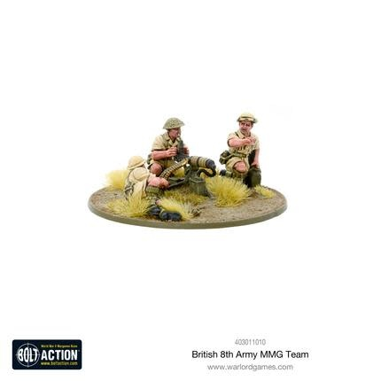 Warlord games Bolt Action: British- 8th Army MMG Team