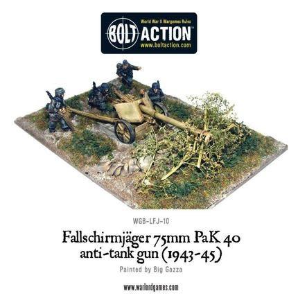 Warlord games Bolt Action: German- Fallshirmjager 75mm PAK 40 Anti-Tank