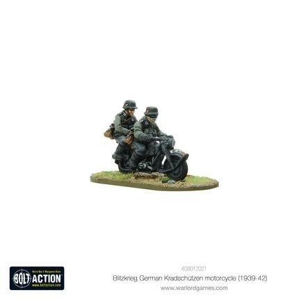 Warlord games Bolt Action: German- Blitzkrieg Kradschutzen Motorcycle