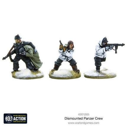 Warlord games Bolt Action: German- Dismounted Panzer Crew Winter