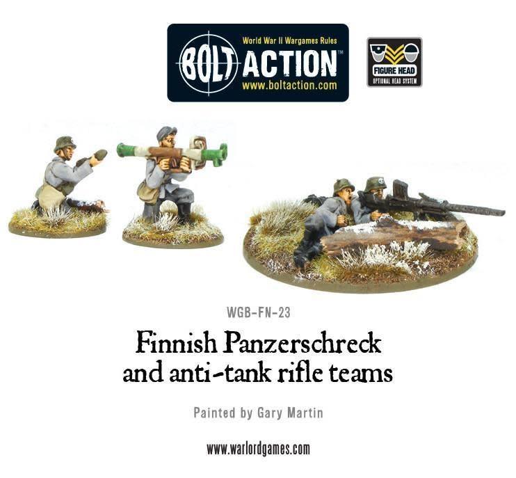 Warlord games Bolt Action: Finnish- Panzerschrek & Anti-tank Rifle Teams