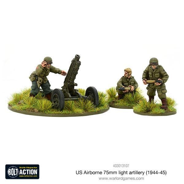 Warlord games Bolt Action: US- Airborne 75mm light artillery
