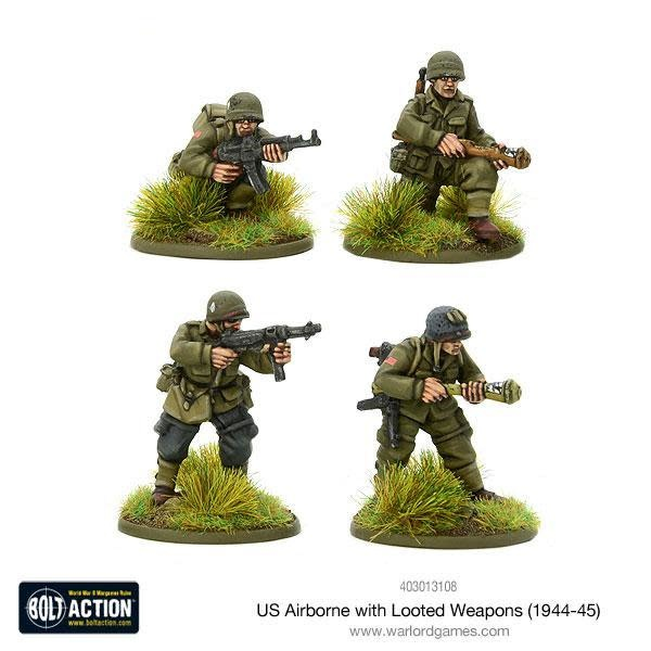 Warlord games Bolt Action: US- Airborne with looted German weapons