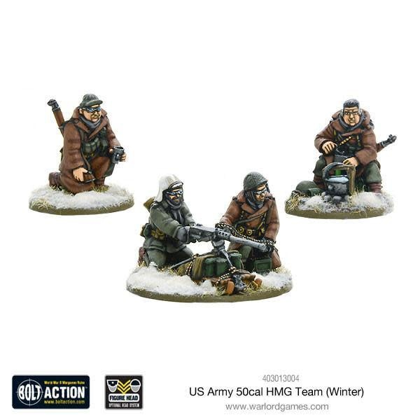 Warlord games Bolt Action: US- Army 50 Cal HMG Team (Winter)