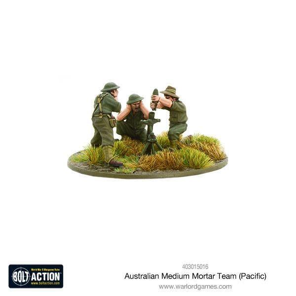 Warlord games Bolt Action: Australian- medium mortar team (Pacific)