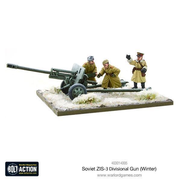 Warlord games Bolt Action: Soviet- Army ZIS-3 divisional gun (Winter)