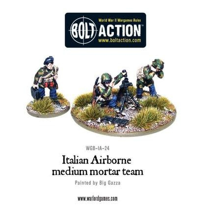Warlord games Bolt Action: Italian- Airborne Medium Mortor Team