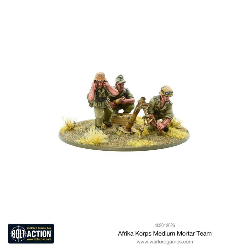 Warlord games Bolt Action: German- Afrika Korps Medium Mortar Team