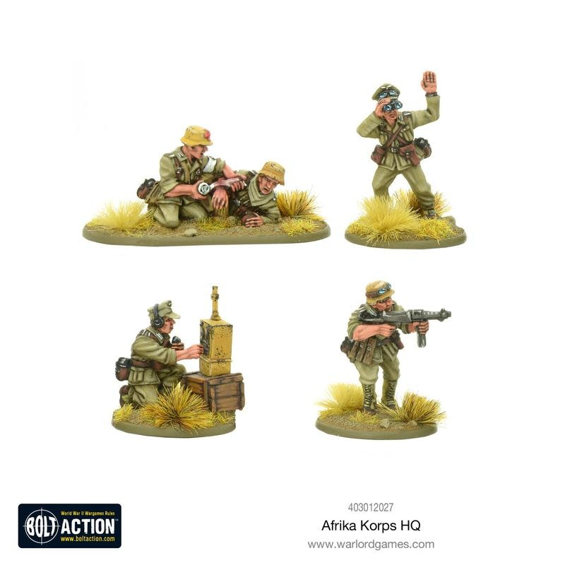 Warlord games Bolt Action: German- Afrika Korps HQ