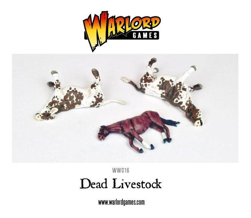 Warlord games Bolt Action: Dead Livestock (2 cows, 1 horse)
