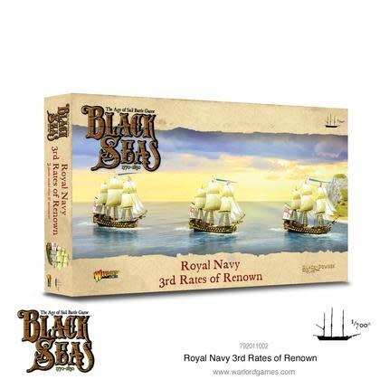 Warlord games Black Seas: Royal Navy 3rd Rates of Renown