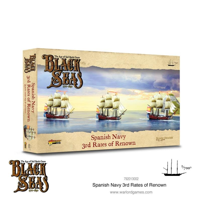 Warlord games Black Seas: Spanish Navy 3rd Rates of Renown