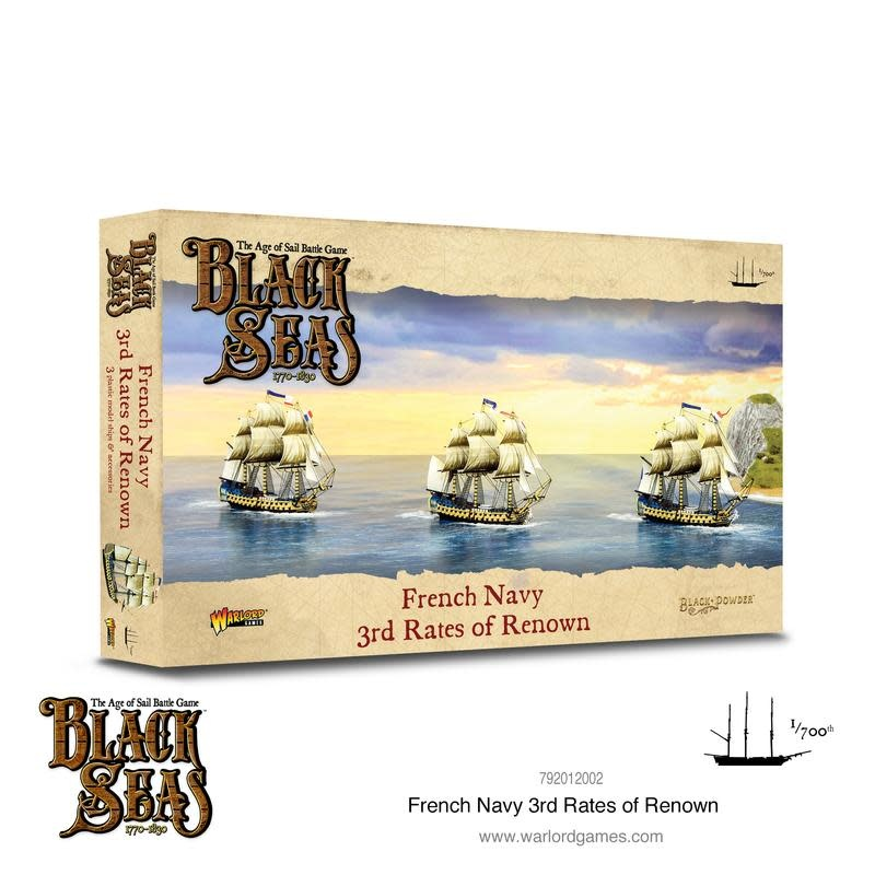 Warlord games Black Seas: French Navy 3rd Rates of Renown