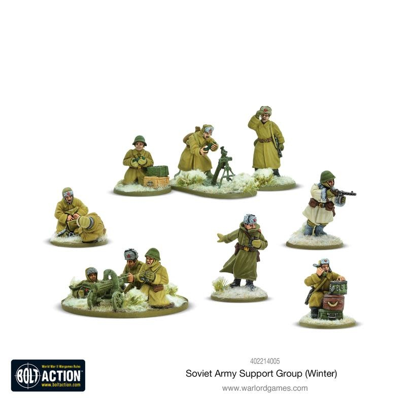 Warlord games Bolt Action: Soviet Army Support Group (Winter)