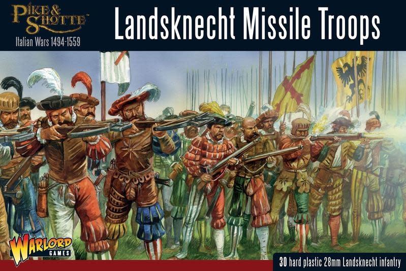 Warlord games Pike & Shotte: Landsknechts Missile Troops