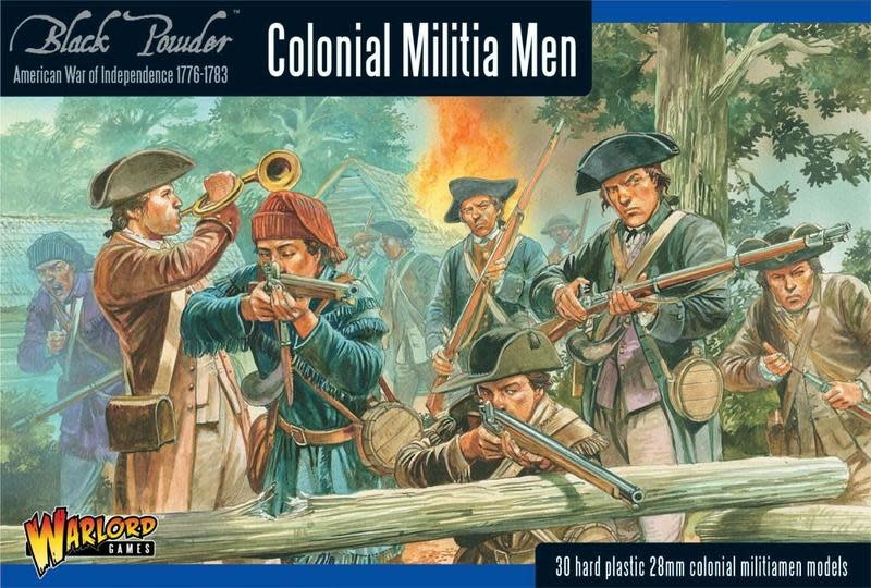 Warlord games Black Powder: Colonial Militia Men (1776-1783)