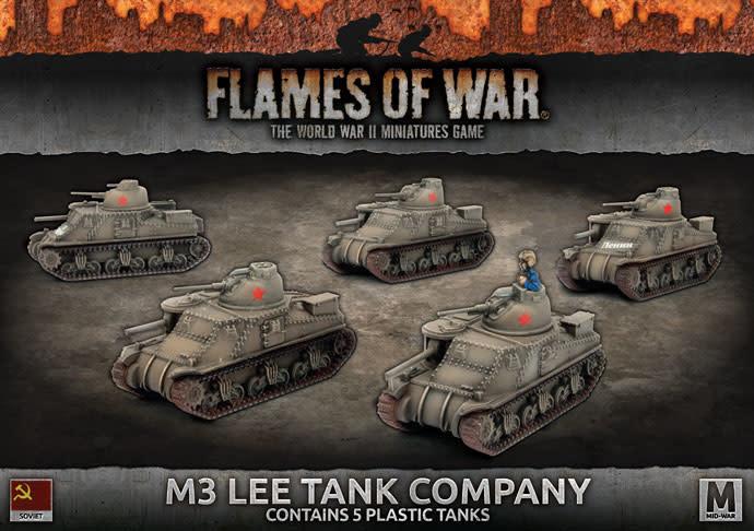 Flames of War Flames of War: Soviet- M3 Lee Tank Company (mid)
