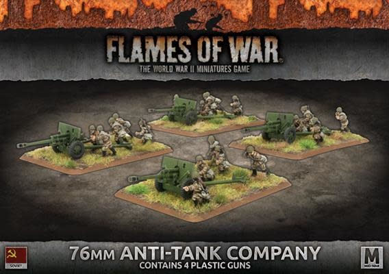Flames of War Flames of War: Soviet- 76mm Anti-Tank Company (mid)