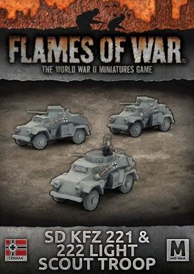 Flames of War Flames of War: German- SD KFZ 221 & 222 Light Scout Troop
