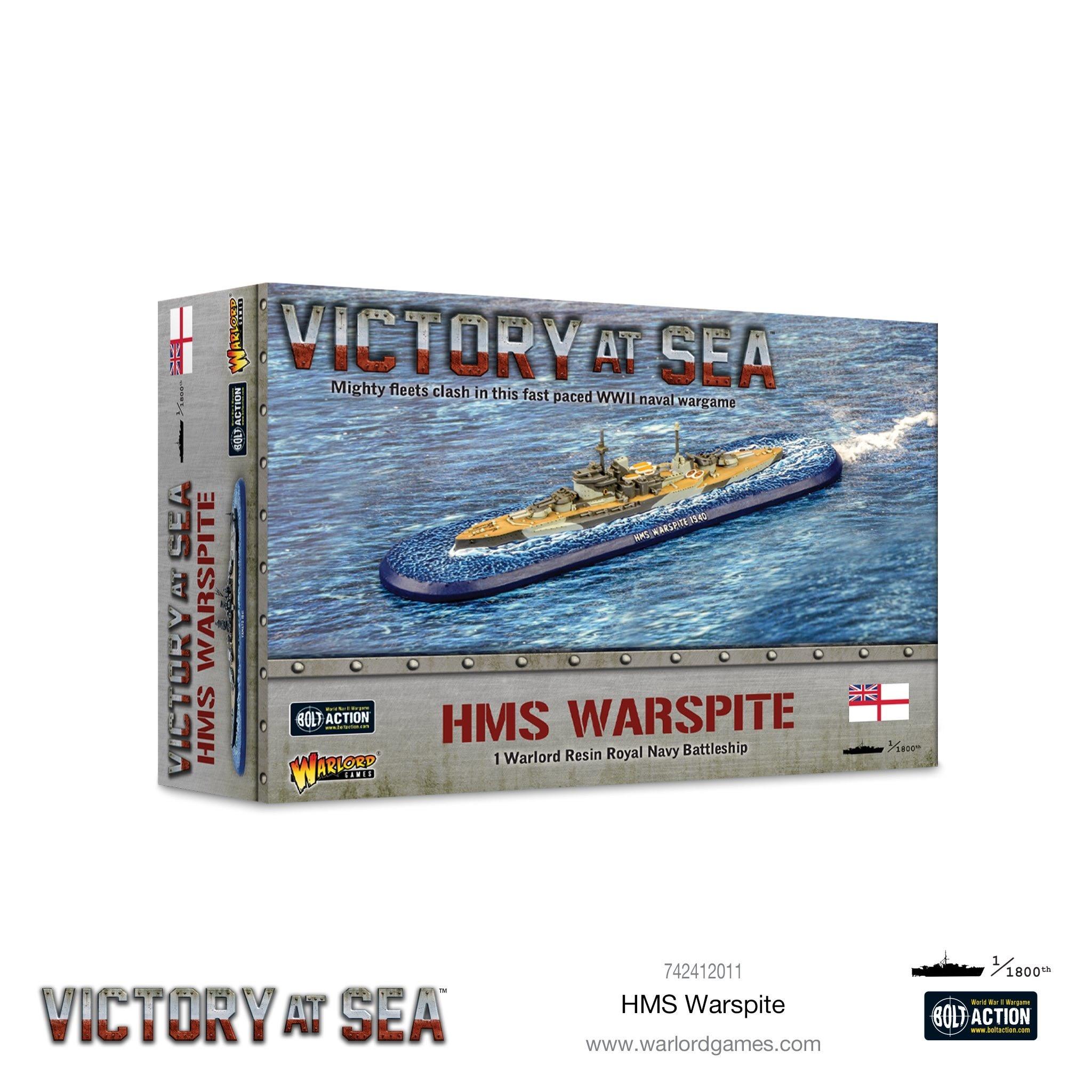 Warlord games Victory at Sea: HMS Warpite- British