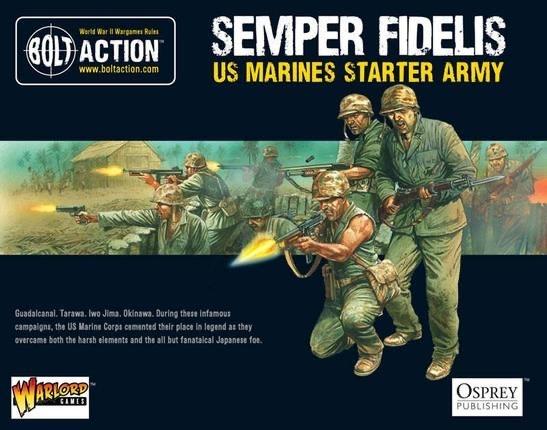 Warlord games Bolt Action: US- Semper Fidelis Marines starter set