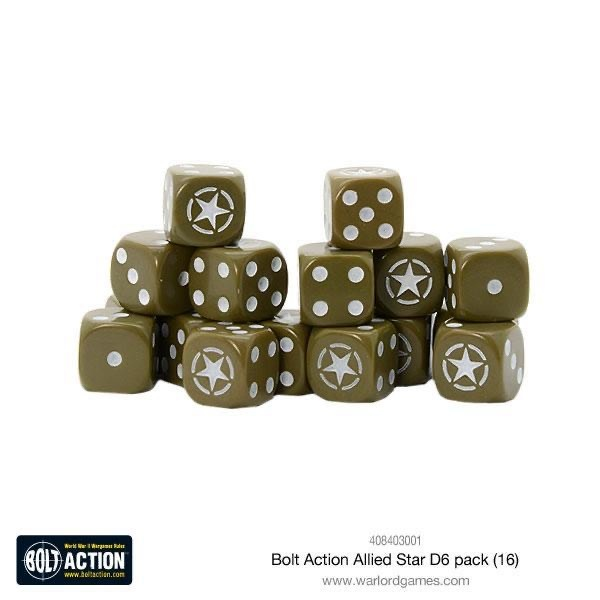 Warlord games Bolt Action: Allied Star D6 pack