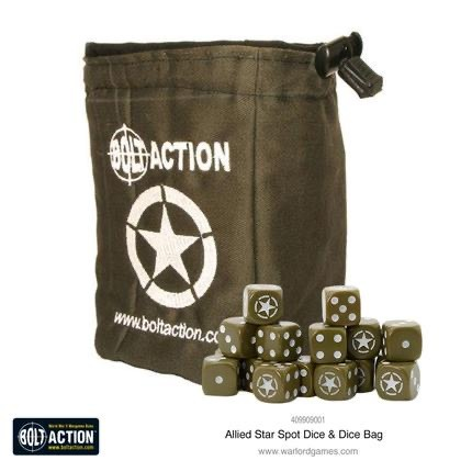 Warlord games Bolt Action: Allied Star dice Bag & dice