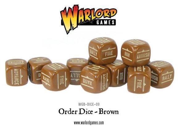 Warlord games Bolt Action: Action Dice - Brown