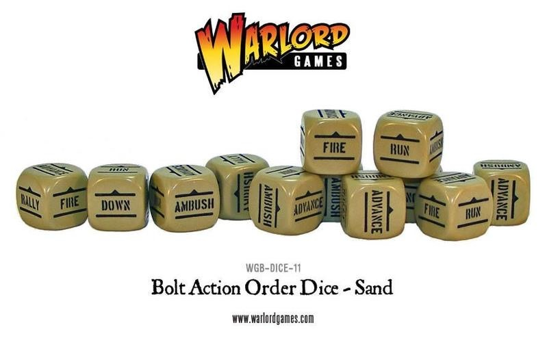 Warlord games Bolt Action: Action Dice - Sand