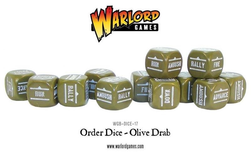 Warlord games Bolt Action: Action Dice - Olive