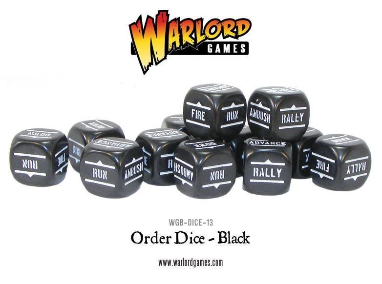 Warlord games Bolt Action: Action Dice - black