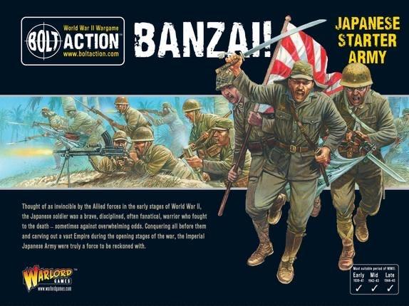 Warlord games Bolt Action: Japanese- Banzai! Army starter set