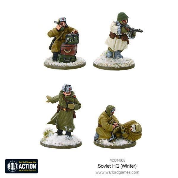 Warlord games Bolt Action: Soviet- HQ (Winter)