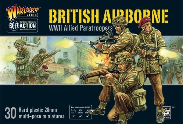 Warlord games Bolt Action: British- Airborne WWII Allied Paratroopers