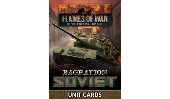 Flames of War Flames of War Unit Cards: Bagration Soviet