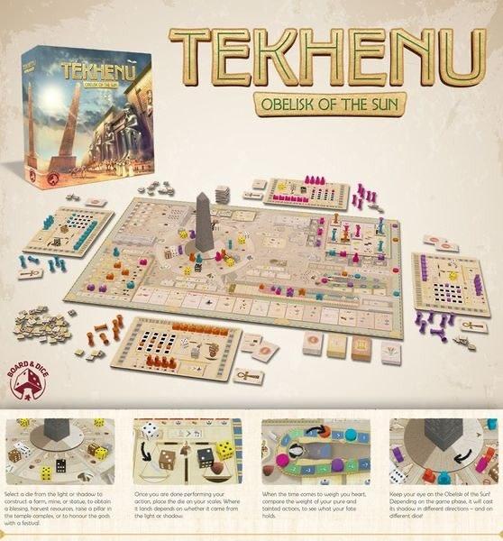 Board & Dice Tekhenu: Obelisk of the Sun