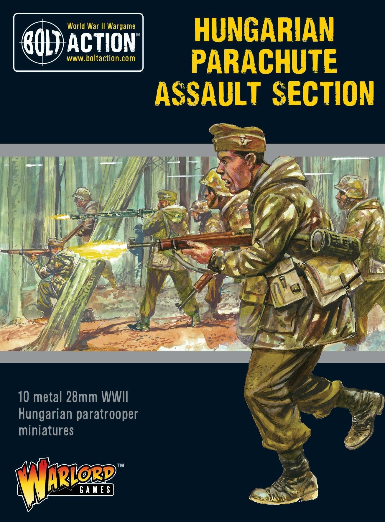 Warlord games Bolt Action: Hungarian- Parachute Assault Section