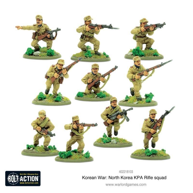 Warlord games Bolt Action: North Korea- KPA Rifle Squad
