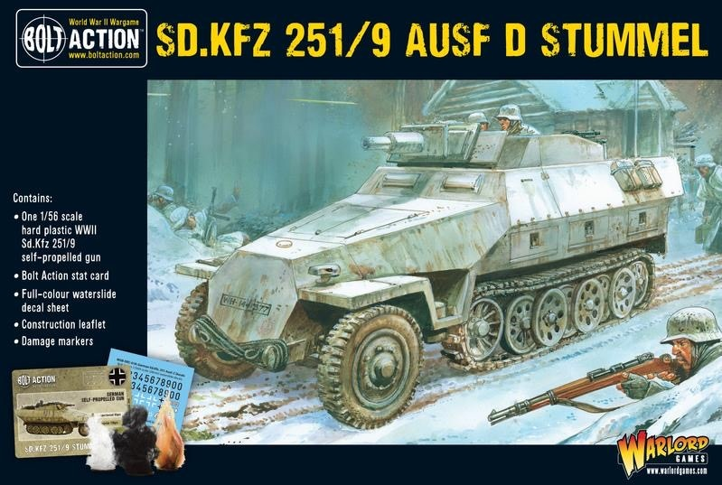Warlord games Bolt Action: German- SD.KFZ 251/9 Ausf D Stummel
