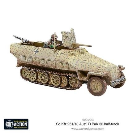 Warlord games Bolt Action: German- Sd.kfz 251/10 ausf. D half-track (PaK 36)