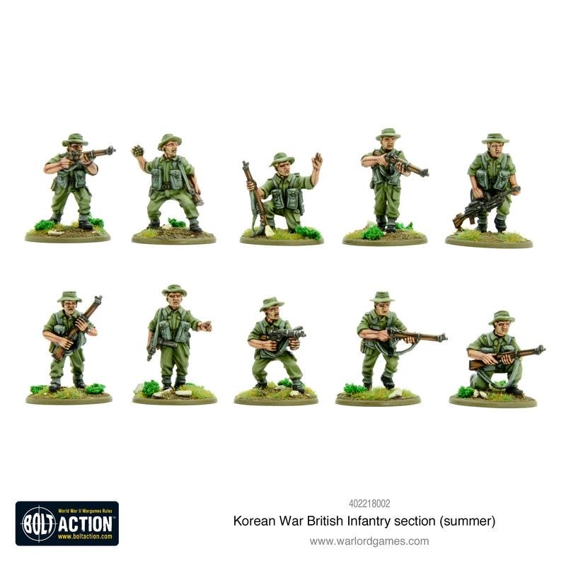 Warlord games Bolt Action: British- Army Infantry Section (summer Uniform)