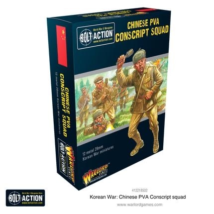 Warlord games Bolt Action: Chinese- PVA Conscript Squad