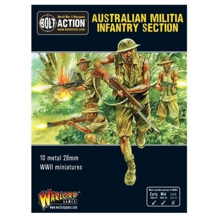 Warlord games Bolt Action: Australian- Militia Infantry Section
