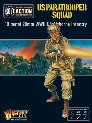 Warlord games Bolt Action: US- Paratrooper Squad